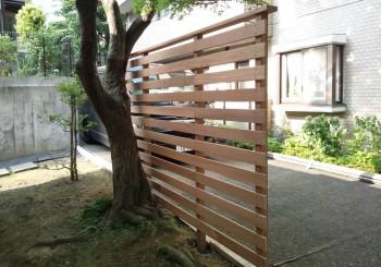 自立型 木製フェンス
