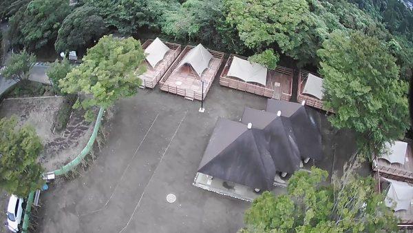 グランピング サイト 上空からの写真